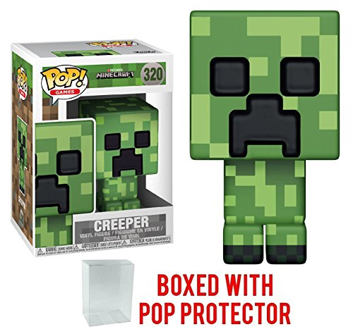 Funko 8-Bit Pop! Games: Minecraft - Creeper Vinyl Figure (Bundled with Pop Box Protector - 8 Bit Minecraft