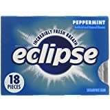Eclipse Peppermint Sugarfree Gum, 18-Piece Packs (Pack of 8)