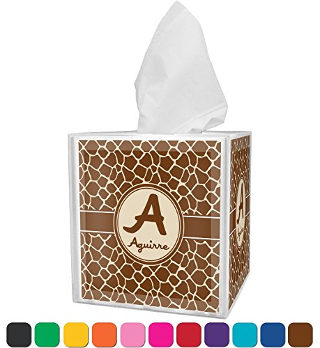 Cover Safari Tissue Box (RNK Shops Giraffe Print Tissue Box Cover (Personalized))