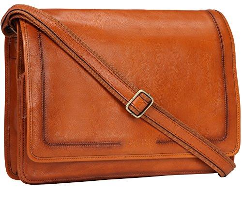 Banuce Vintage Leather Messenger Bag for Men 14 Laptop Business Crossbody Shoulder Satchel Bag by Banuce (Image #7)