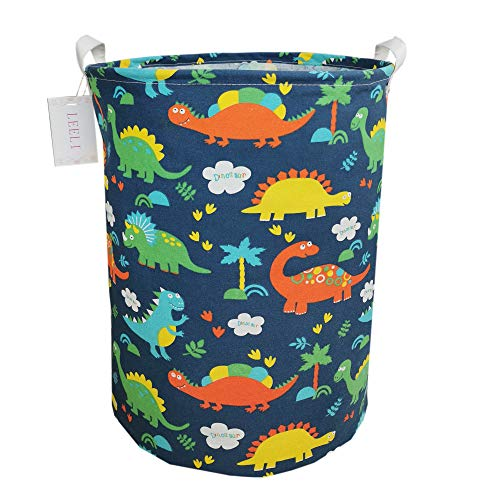 LEELI Laundry Hamper with Handles-Collapsible Canvas Basket for Storage Bin,Kids