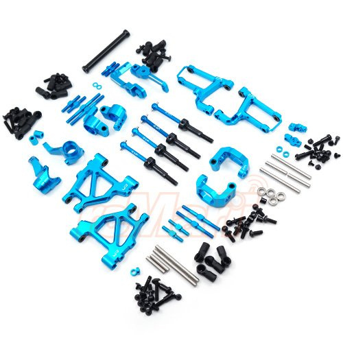 Yeah Racing Aluminum Long-Span Suspension Arms And Knuckles Performance Upgrade Kit For Tamiya MF01X #TAMC-S07BU (Set Arm Knuckle)