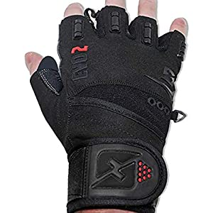 skott Evo 2 Weightlifting Gloves with Integrated Wrist Wrap Support-Double Stitching for Extra Durability-Get Ripped…