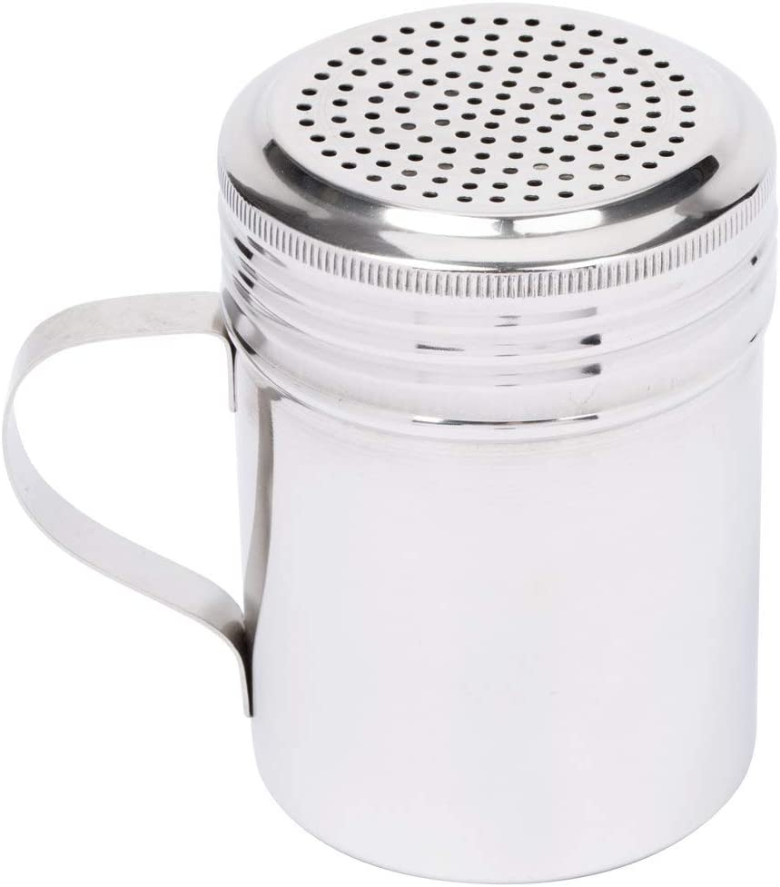 MM Foodservice Set of 3 Professional Stainless Steel Dredges. Commercial Grade Spice Shakers with Handle, 3pc Stainless Steel Dredge Shaker (Stainless Steel With Handle)