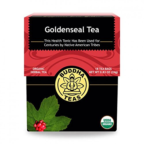 Organic Goldenseal Tea, 18 Bleach-Free Tea Bags - Caffeine Free Herbal Tea, Contains Antioxidants and Essential Vitamins and Minerals, No GMOs (Best Tea For Cough And Chest Congestion)