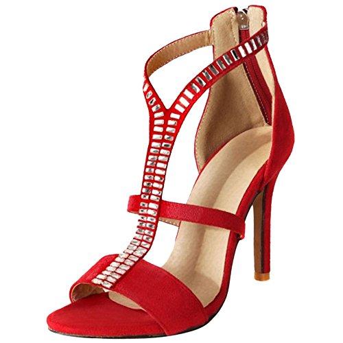Femmes Aiguille Femmes Coolcept Coolcept Coolcept red Femmes Sandales Sandales red Aiguille gqUx4w5p
