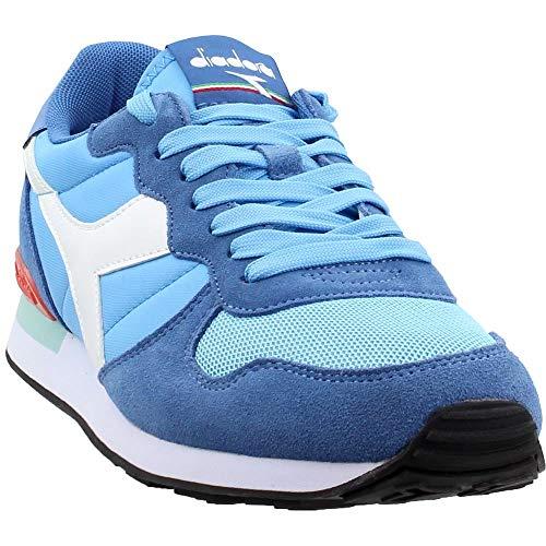 Diadora Camaro Mens Blue Suede/Nylon Athletic Lace Up Running Shoes 9 (Suede Diadora)