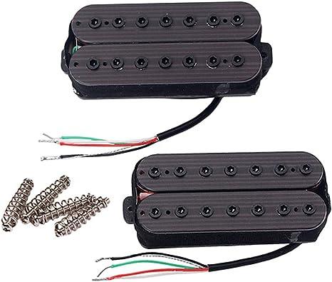 2 Stücke Doppelspule Humbucker Pickup Surround Ringe für 7 saitige Gitarre
