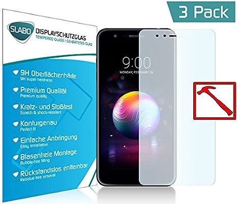 Slabo 3 x Lámina de Vidrio Premium para LG K11 Protectora ...