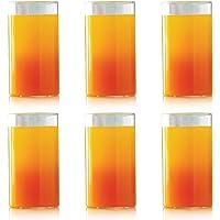 Borosil Vision Glass Set, 350ml, Set of 6, Transparent