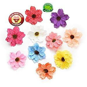 Artificial Flower Sunflower Flower Heads Gerbera Silk Flower Daisy Wreath Pectoral Flower Bouquet Wedding Dress Decorative Wreaths Materials Fake Flower 50PCS 6cm (Multicolor) 22