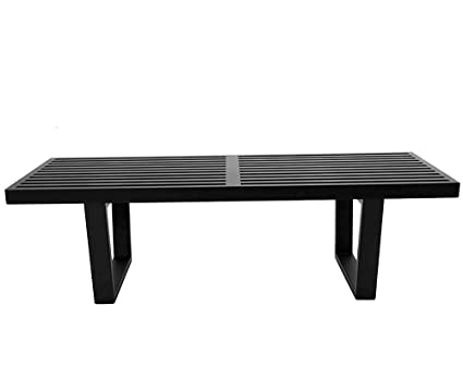 Pleasing Mlf George Nelson Platform Bench 3 Wooden Entryway Bench 5 Feet In Black Painted Ash Wood Ncnpc Chair Design For Home Ncnpcorg