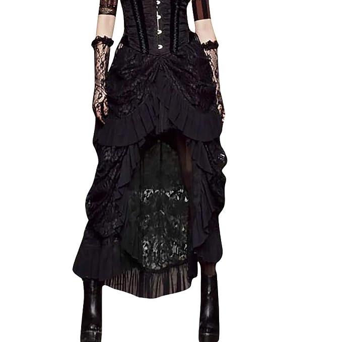 Amyline Mujer Vestido Vintage, Falda Larga De Fiesta Irregular De ...