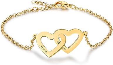 Identity Personalised Heart Initials Bracelet Friendship Love Bracelet