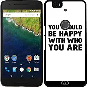 Funda para Google Nexus 6P (Huawei) - Deberías Estar Feliz by wamdesign