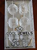 Fred & Friends Cool Jewels Diamond Ice Cube Tray Silicone Mold Party Bling NEW