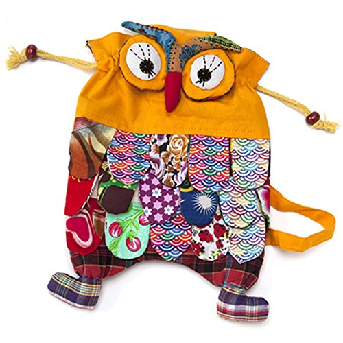Holly The Owl Child Costumes (Toddler Children Boys Girls Kindergarten Pre School Yellow Owl Backpack Knapsack)