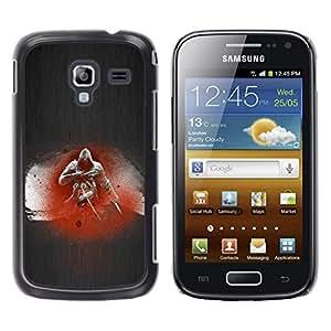 Caucho caso de Shell duro de la cubierta de accesorios de protección BY RAYDREAMMM - Samsung Galaxy Ace 2 - Asesino