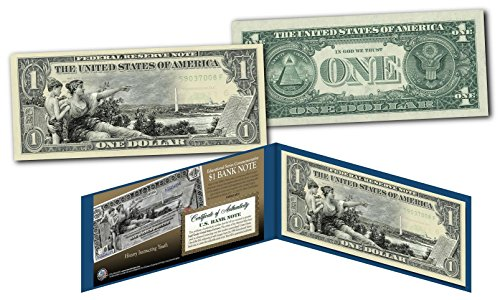 - 1890's EDUCATIONAL SERIES Neoclassical Designed NEW Legal Tender Modern $1 Bill