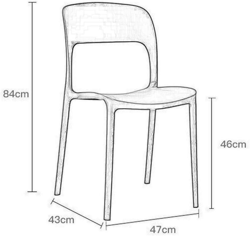 WHY Décoration de la maison Chaise en plastique |Chaise de bureau |Chaises de salle à manger design moderne |Chaises de salle à manger Articles ménagers (Color : Red) Red