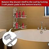 Vdomus Strong Shower Caddy 2 Tier Bathroom Corner