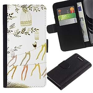 Stuss Case / Funda Carcasa PU de Cuero - Arte Medias Hermosa minimalista - Sony Xperia Z3 Compact