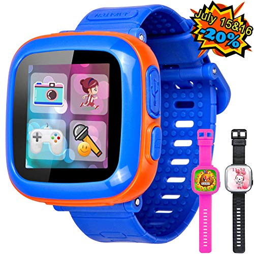 GBD Game Smart Watch for Kids Girls Boys with Camera 1.5'' Touch 10 Games Pedometer Timer Alarm Clock Electronic Learning Toys Wrist Watch Bracelet Health Monitor for Holiday Birthday Gifts (Blue) ()