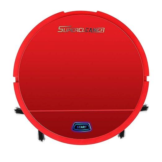 Abilieauty Auto Limpieza Robot Inteligente Barrido Aspiradora Suelo Suciedad Polvo Cabello Clean para Hogar - Rojo: Amazon.es: Hogar