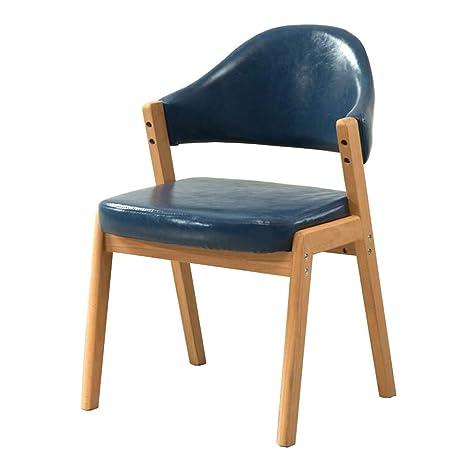 Amazon.com: Silla de comedor simple, silla de escritorio ...