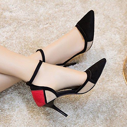 50% de descuento LJO Zapatos De Tacón Alto Para Mujer De Una Palabra Hebilla Moda Baotou Asakuchi Sandalias De Verano ddkshop.top