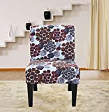 Cheap Container Direct Furniture Grace Flower Patterned Fabric Accent Chair, Orange, Regular