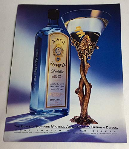 Magazine Print Ad 1996 Bombay Sapphire Dry Gin