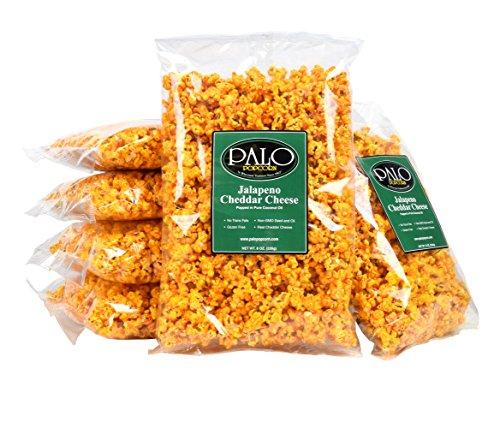 Palo Popcorn Jalapeno Cheddar Popcorn, 8 ounce bag (Pack of 6)
