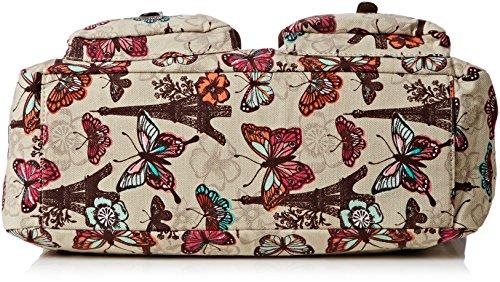 Swankyswans Damen Noel Paris Butterfly Messenger School Umhängetaschen Beige iGnNZIANN