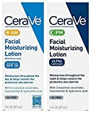 CeraVe Facial Moisturizing Lotion 3oz. AM/PM Bundle (Packaging may...