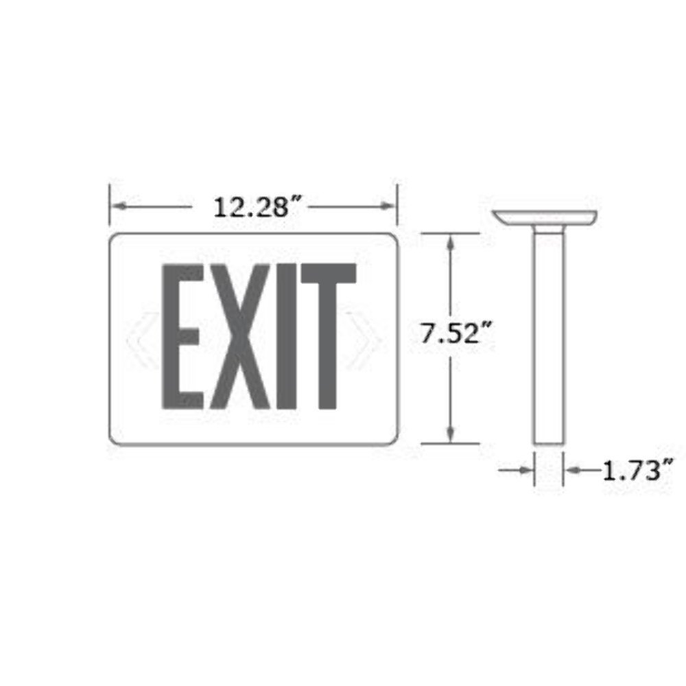 Etoplighting Led Exit Sign Emergency Light Lighting Automatic Low Power Battery Back Up Red Letter Agg745 Commercial Lighted Signs