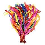 WINOMO Dance Ribbon Streamer Gymnastics Ribbon Rhythm Rainbow Ribbon Pack of 12