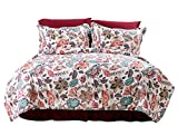 PuTian Home-Bedding Printed Comforter Set 5 PCS-Queen/King-GraceEncounter-Floral