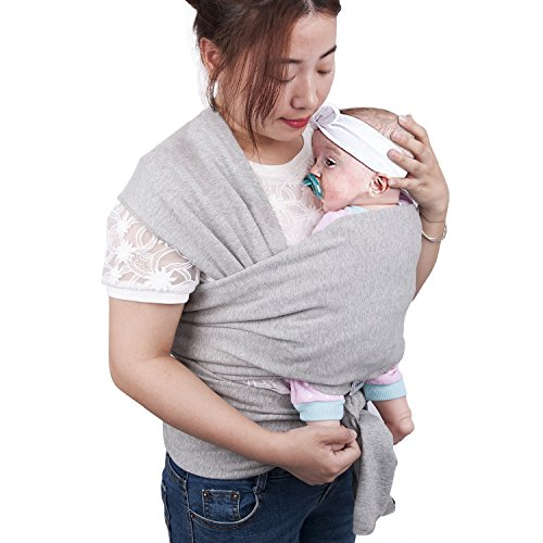 Baby Wrap Carrier, GloEra Breathable and Adjustable Cotton Baby Sling Carrier for Newborn, Infant, Baby & Toddler, Original Natural Cotton Make It Soft and ()