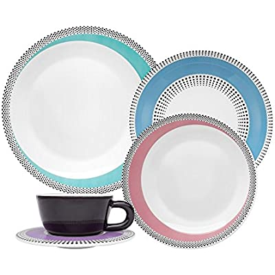 Click for Oxford 20 Piece Dots Collection Moon Dinnerware Set