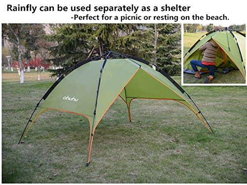 Ohuhu-Instant-Dome-Tent-Easy-Set-Up-3-Person-Tent-with-Waterproofing-and-UV-Protection-for-Camping-Festivals-Beach-Goers-1-Room-Green