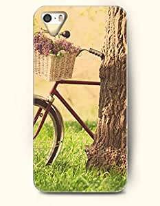 OOFIT Phone Case design with Flower in the Basket and Big Tree Trunk for Apple iPhone 5 5s 5g