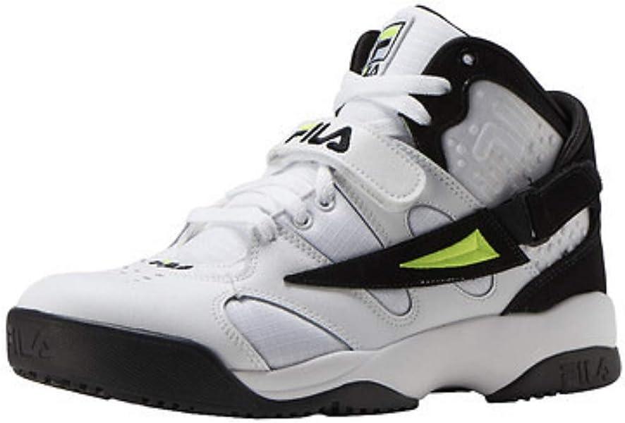 dcc6cd15d1 Amazon.com | Fila Mens Spoiler SLV Wht/Blk/Sfty - 9 M U S | Shoes