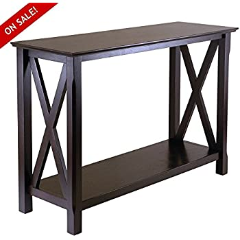 Amazon Com Hallway Console Table Narrow Cappuccino Accent