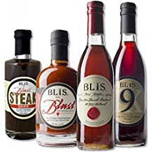 BLiS Bourbon Barrel Aged Variety Pack - Bourbon Barrel Aged Maple Syrup [375ml] - Blast Hot Sauce [375ml] - Blast Steak Sauce [250 ml] - #9 Sherry Vinegar [375ml]