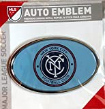 New York City Raised Metal Domed Oval Color Chrome Auto Emblem Decal MLS Soccer Football Club