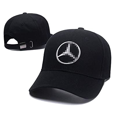 Carhome01 Car Logo Motor Hat Embroidered Black Racing F1 Baseball Caps for Mercedes Benz Accessories: Automotive