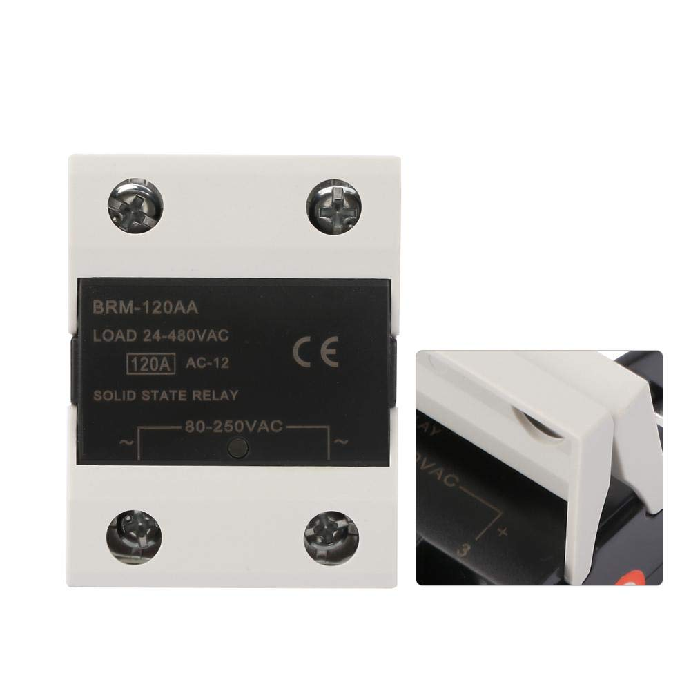 24-480VAC SSR Relay Module Solid State Relay for Signal Lights,Traffic Lights,CNC Mechanical Remote Control System Relay BRM-120AA