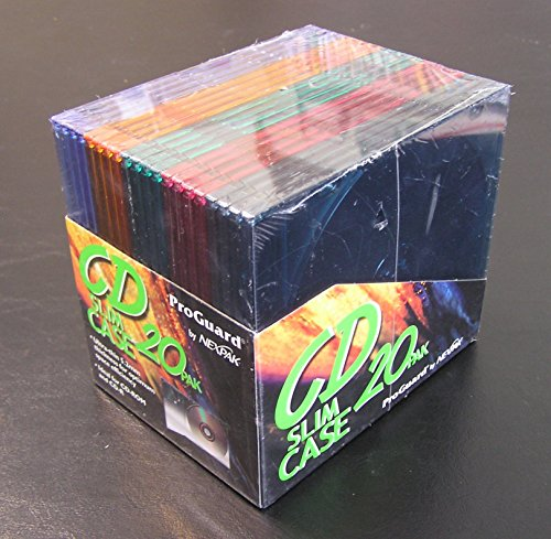 Nexpak Case - NEXPAK CDJM-20 Color Slim CD Jewel Cases