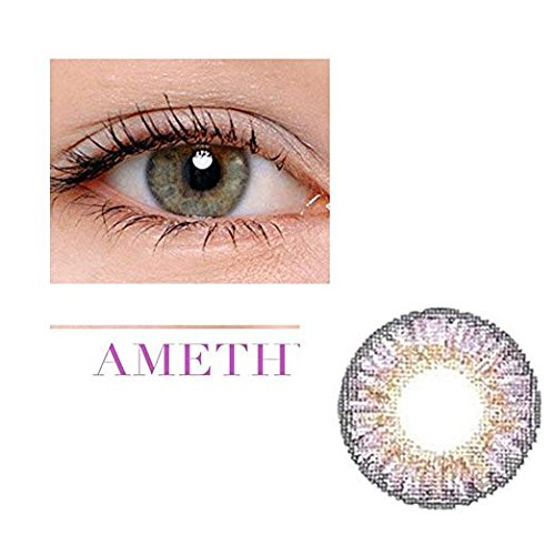 Women Multicolor Cute Charm and Attractive Fashion Contact Lenses Cosmetic Makeup Eye Shadow - Violet 3 with Contact Lens Case By Winis (Frame Violet Lenses)
